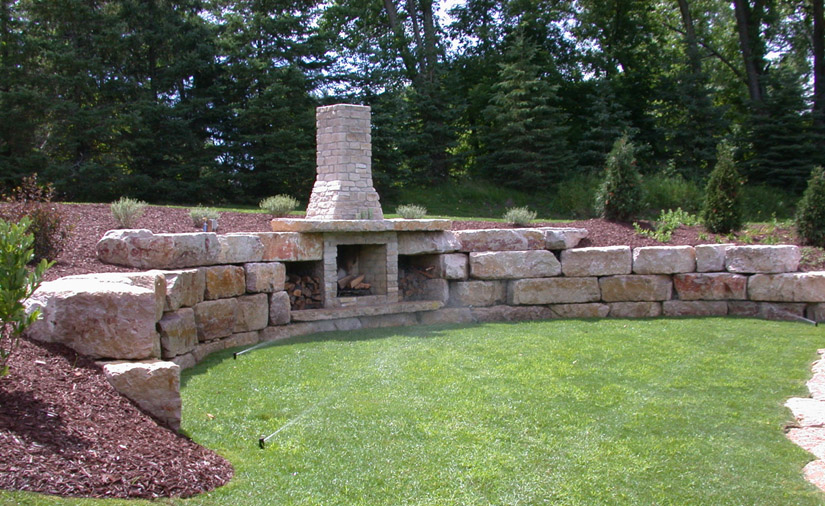 Outdoor firepits fireplaces cornerstone design for Cornerstone design