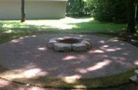 Backyard Circular Stone Firepit